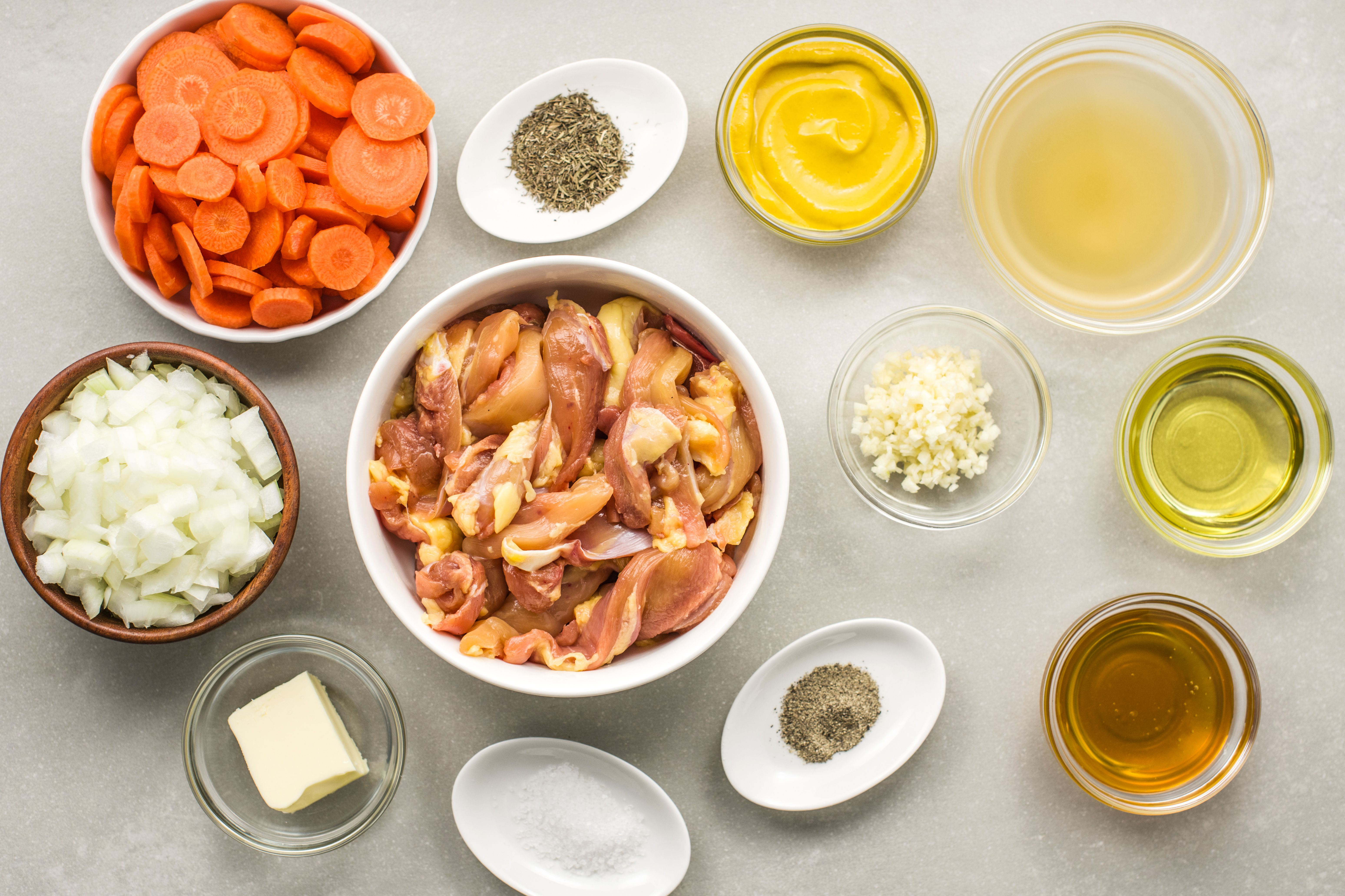 Honey mustard chicken thighs ingredients
