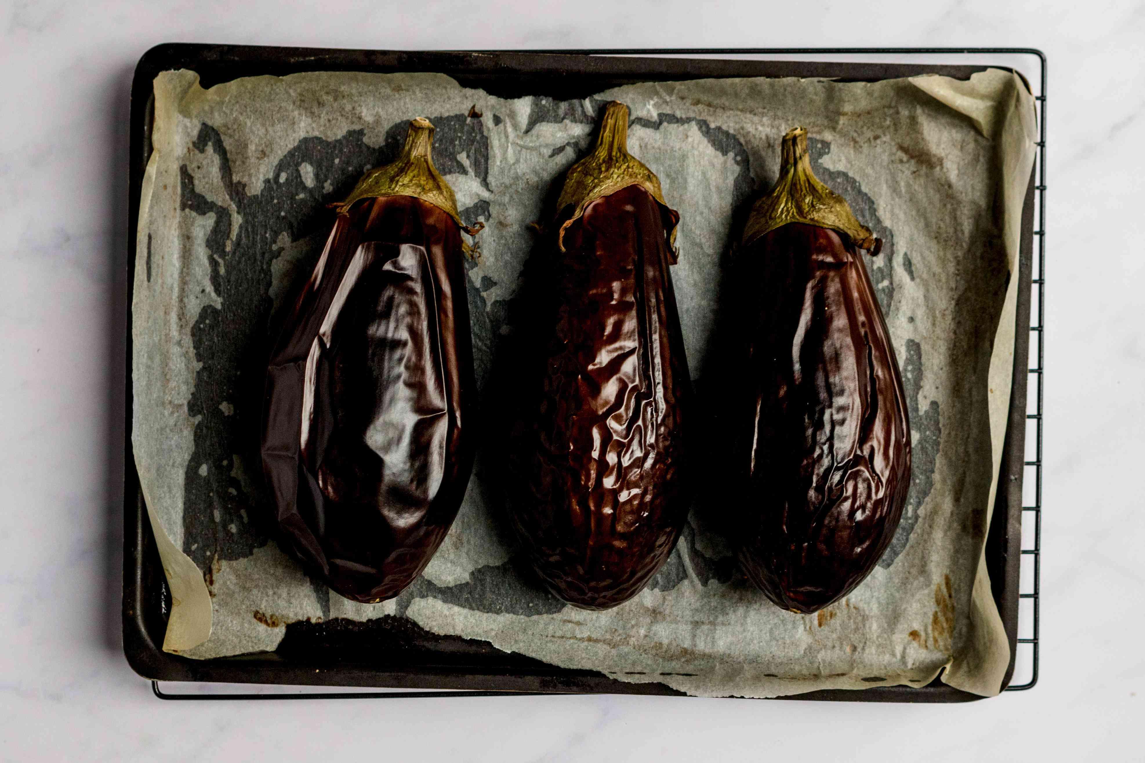 bake eggplant on a baking sheet