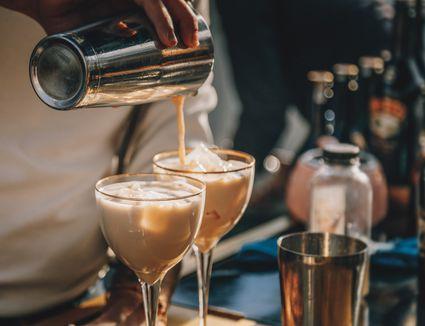 Cocktails with Irish cream