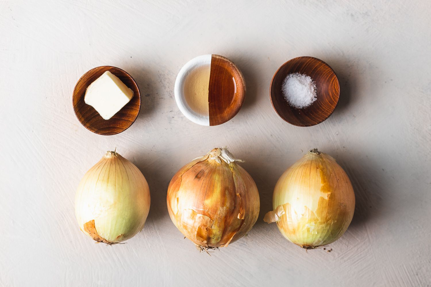 Ingredients for browned onions