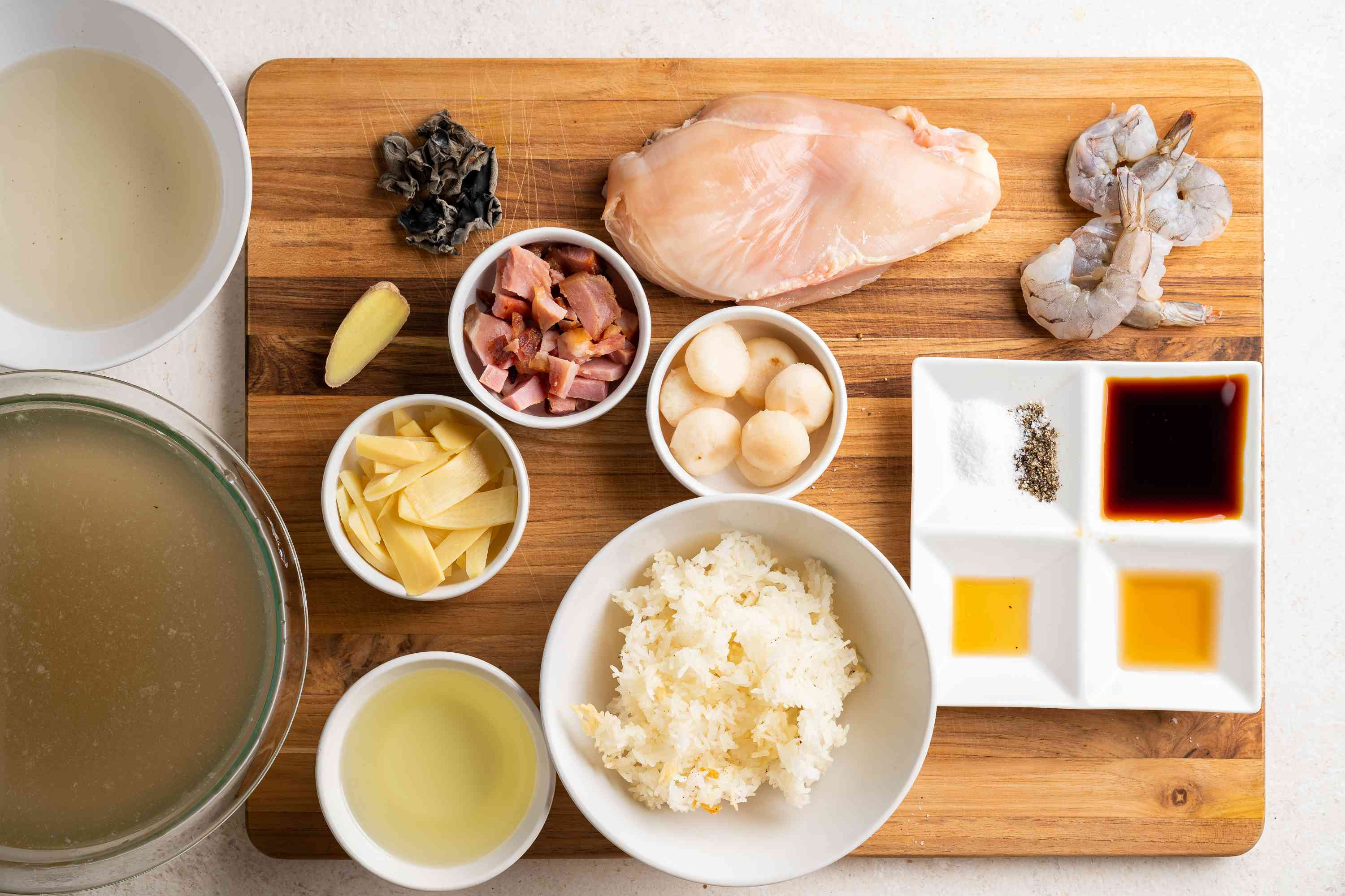 Sizzling Rice Soup ingredients