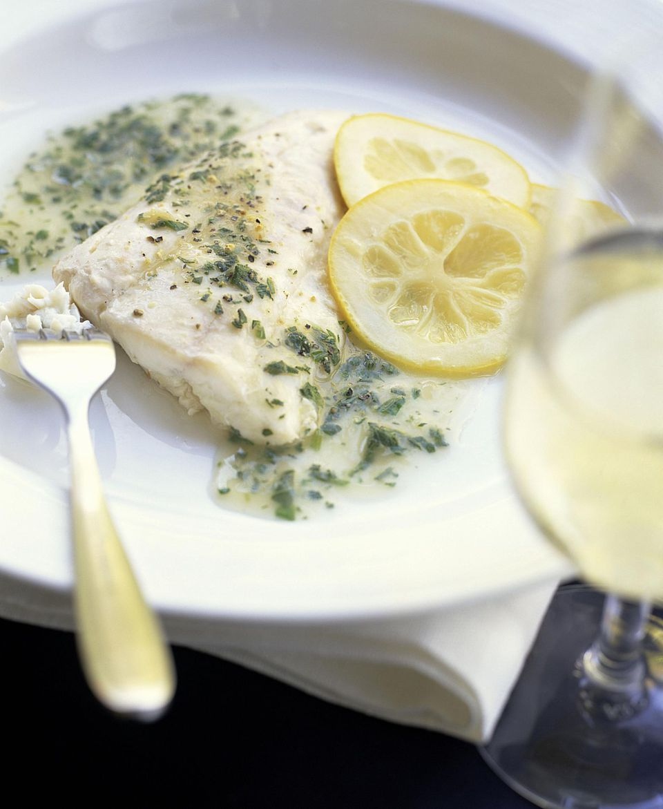 Fish with Tarragon Brown Butter Sauce