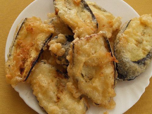 Batter-fried eggplant
