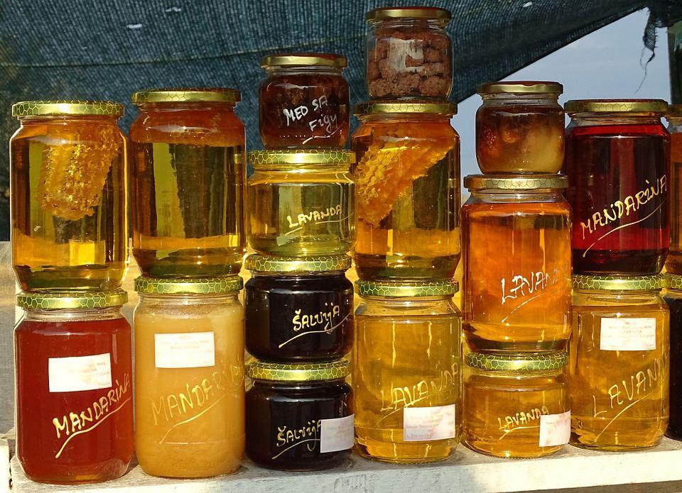 Honey and jam