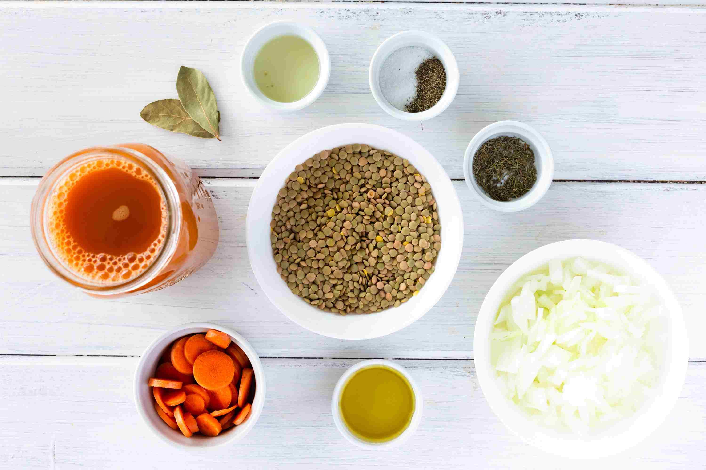Vegetarian Lentil Soup ingredients