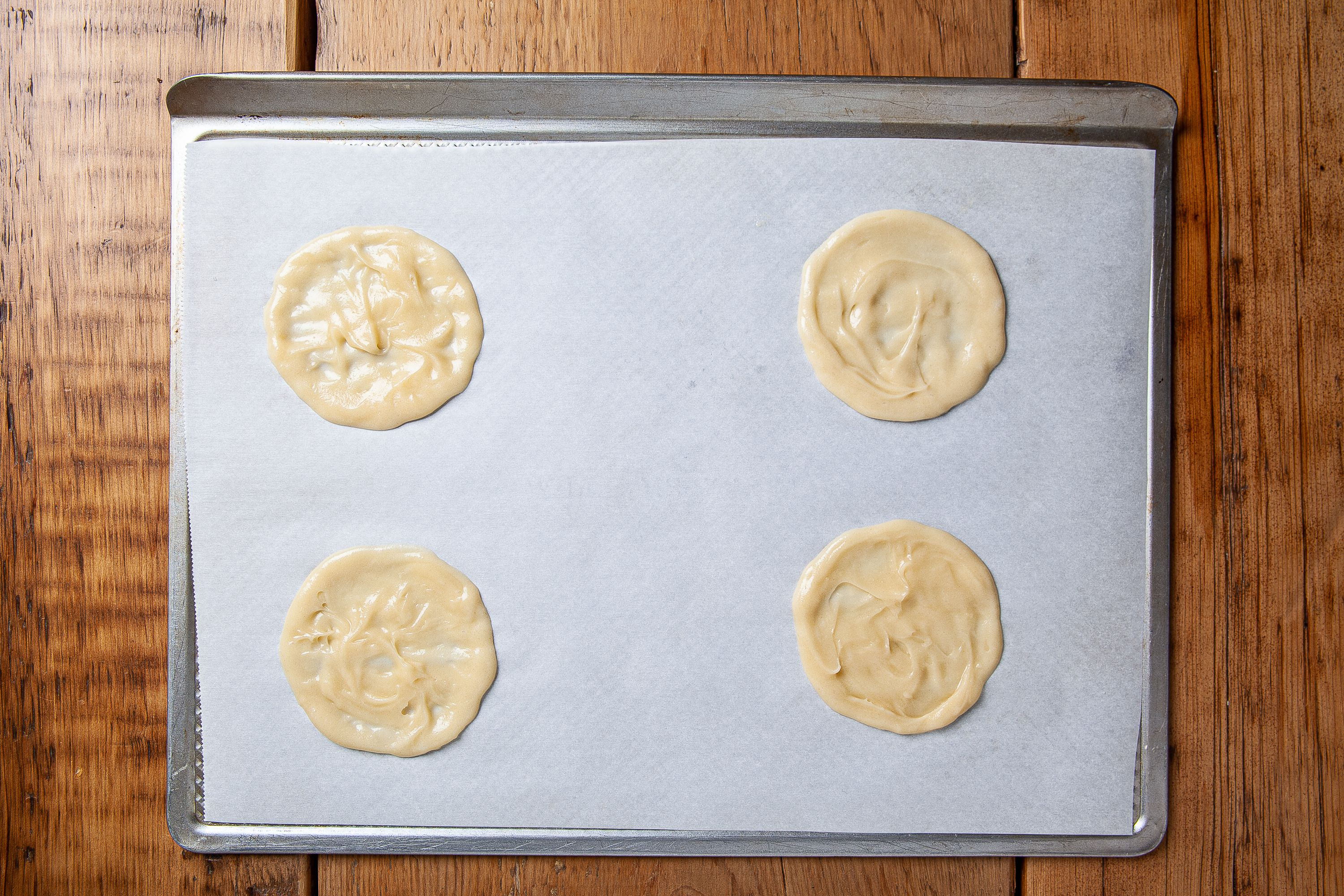 Spread out the batter