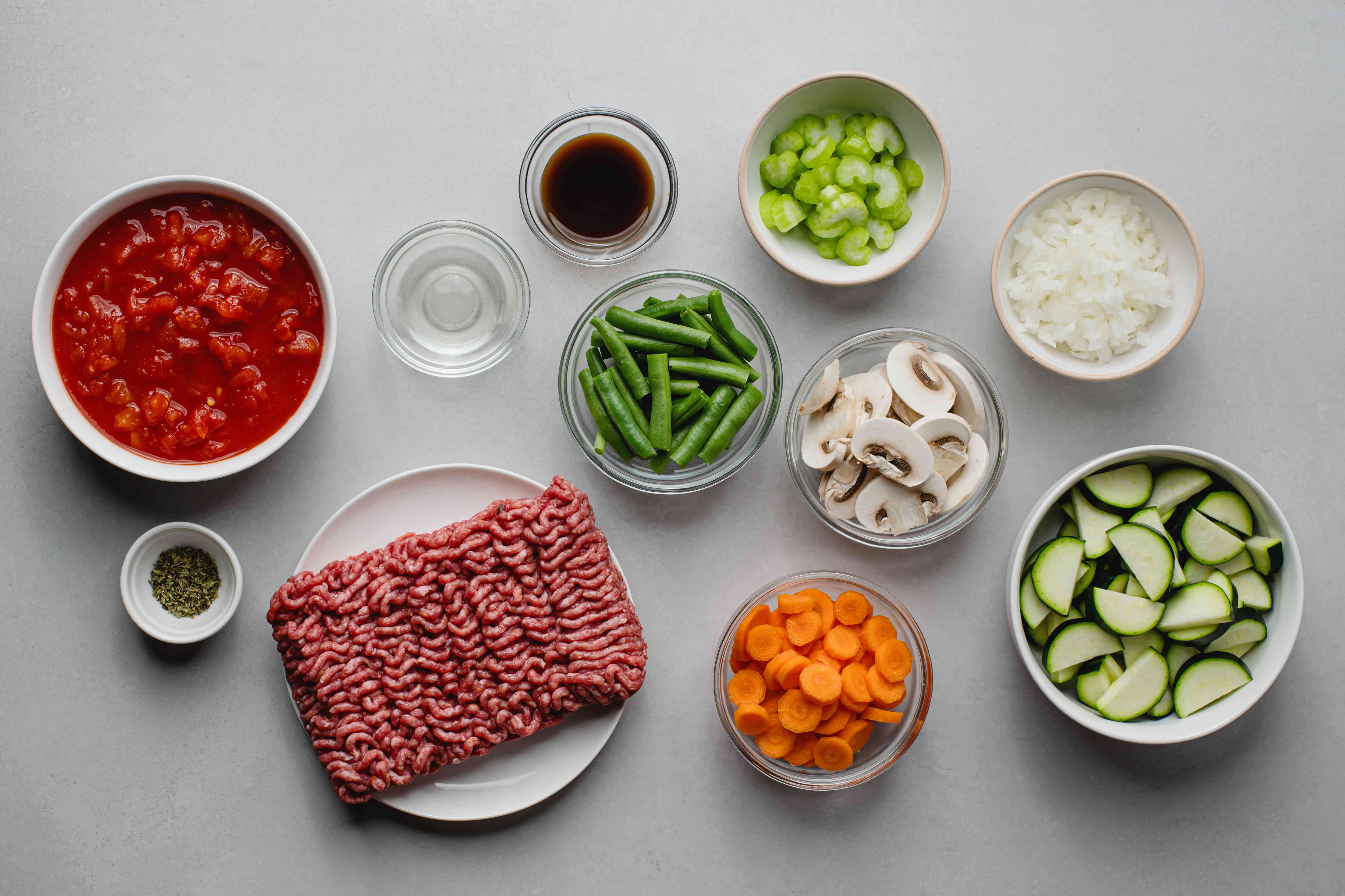 Low-Fat Skillet Ground Beef and Vegetables ingredients