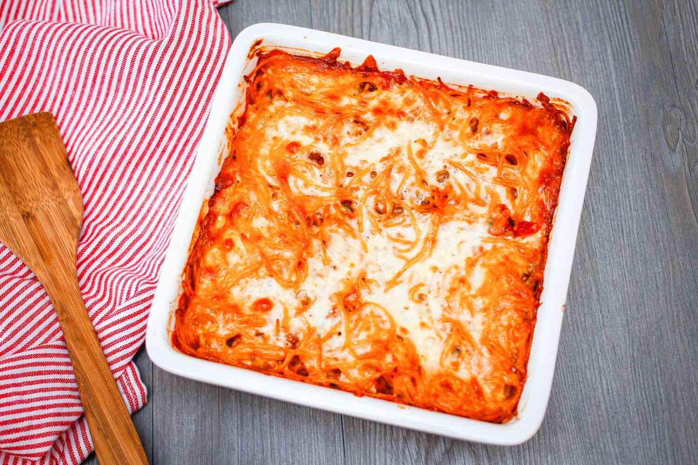 Meatless Baked Spaghetti Casserole