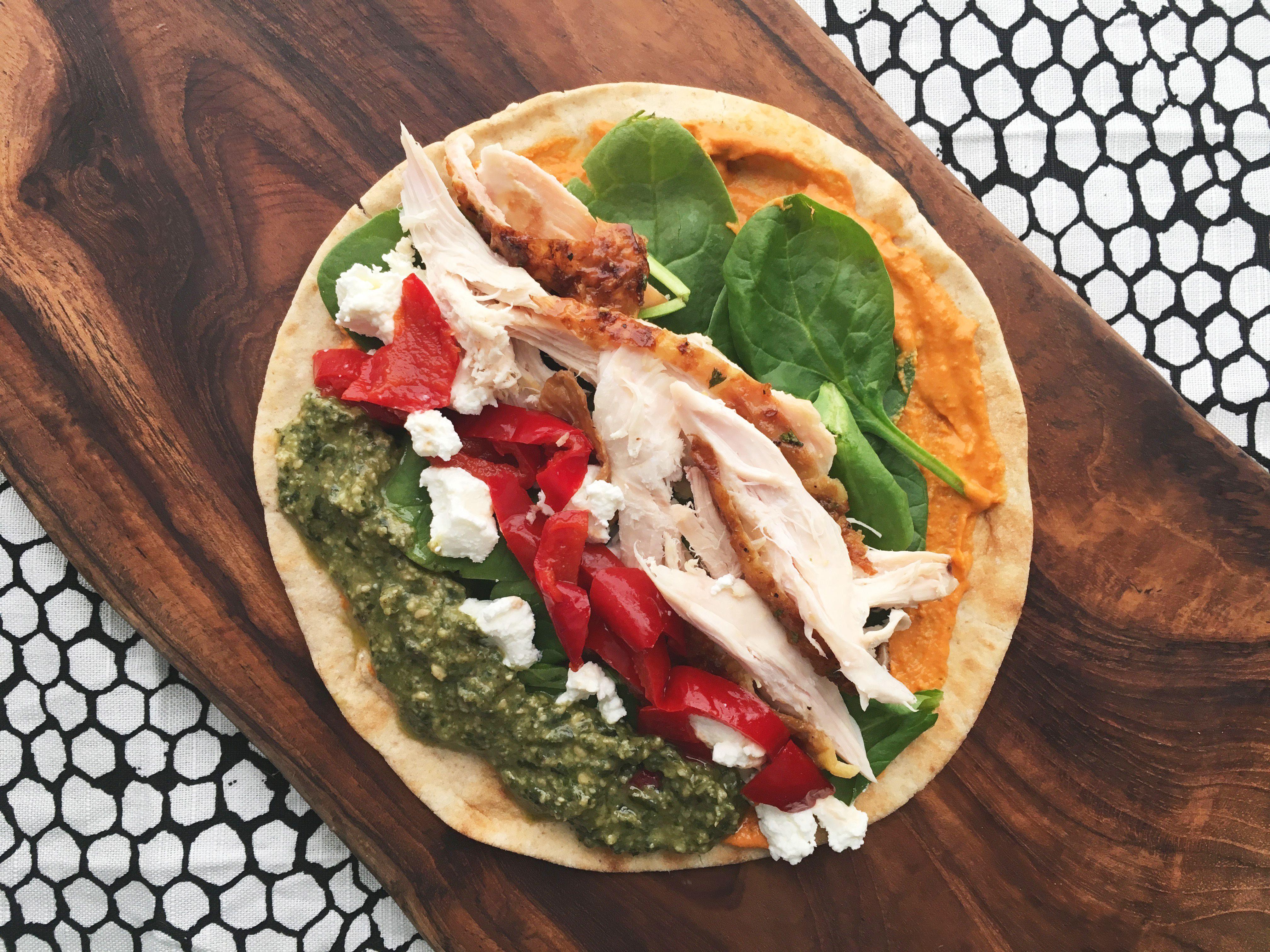 Chicken Spinach Provencal Wrap