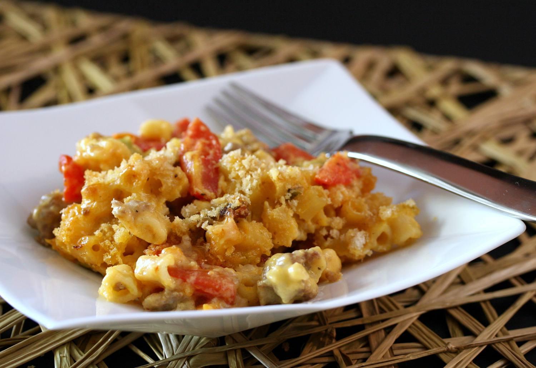 Macaroni and Cheese With Sausage