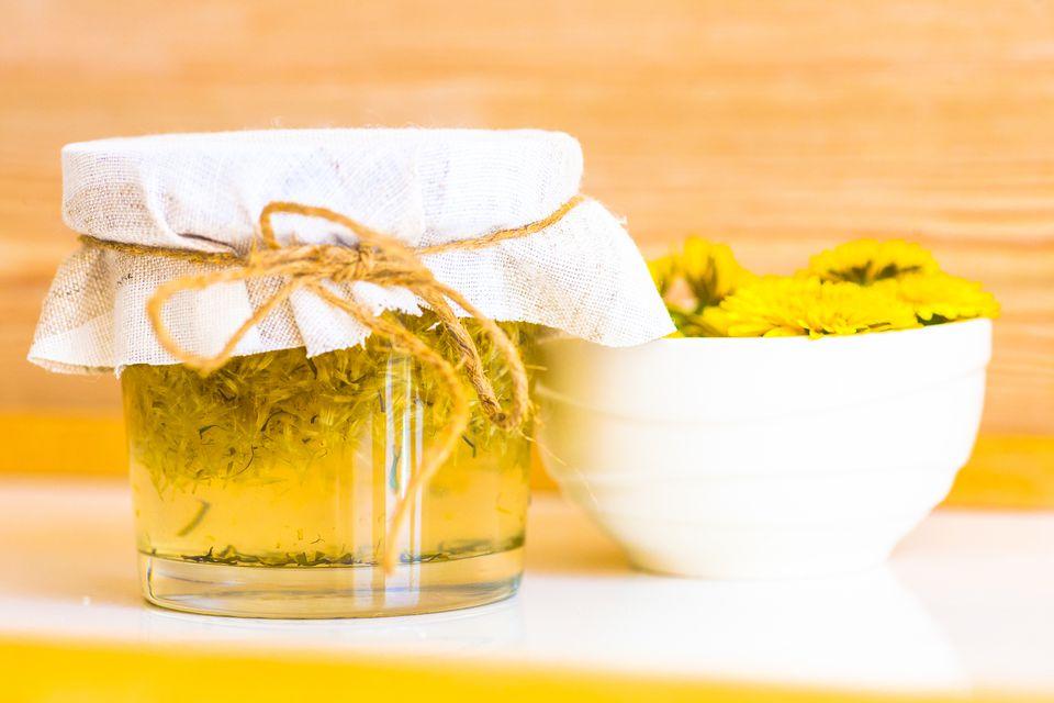 Close-up of dandelion jam