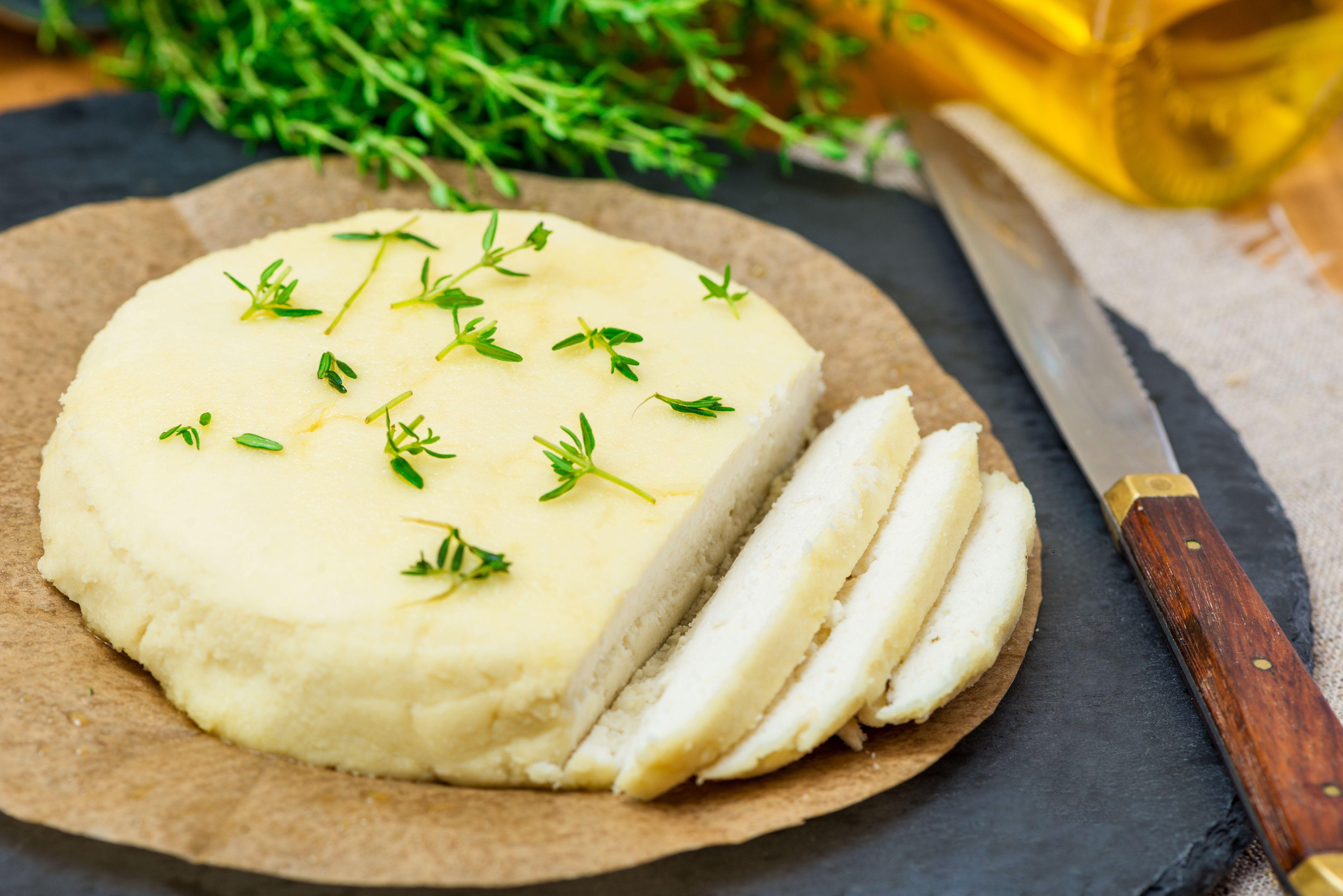 Homemade almond cheese