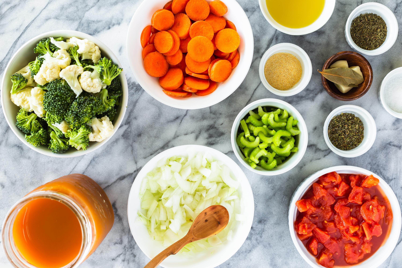 Easy Vegetable Soup Ingredients