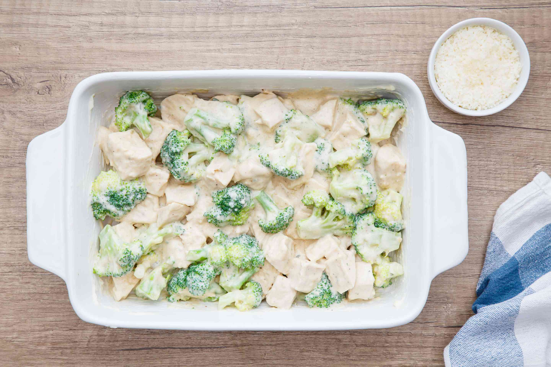 Turn mixture into a prepared baking dish