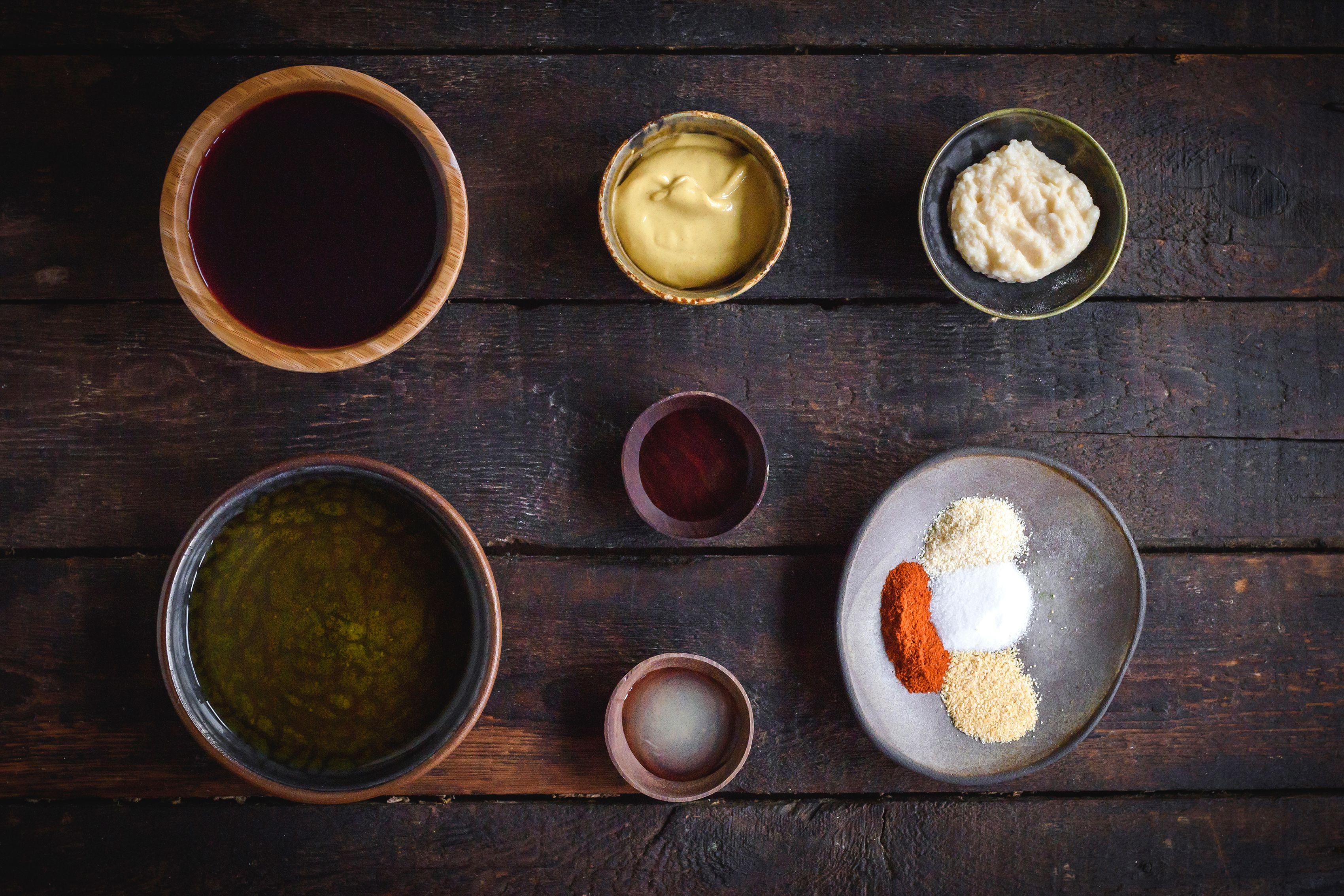 Ingredients for brisket marinade