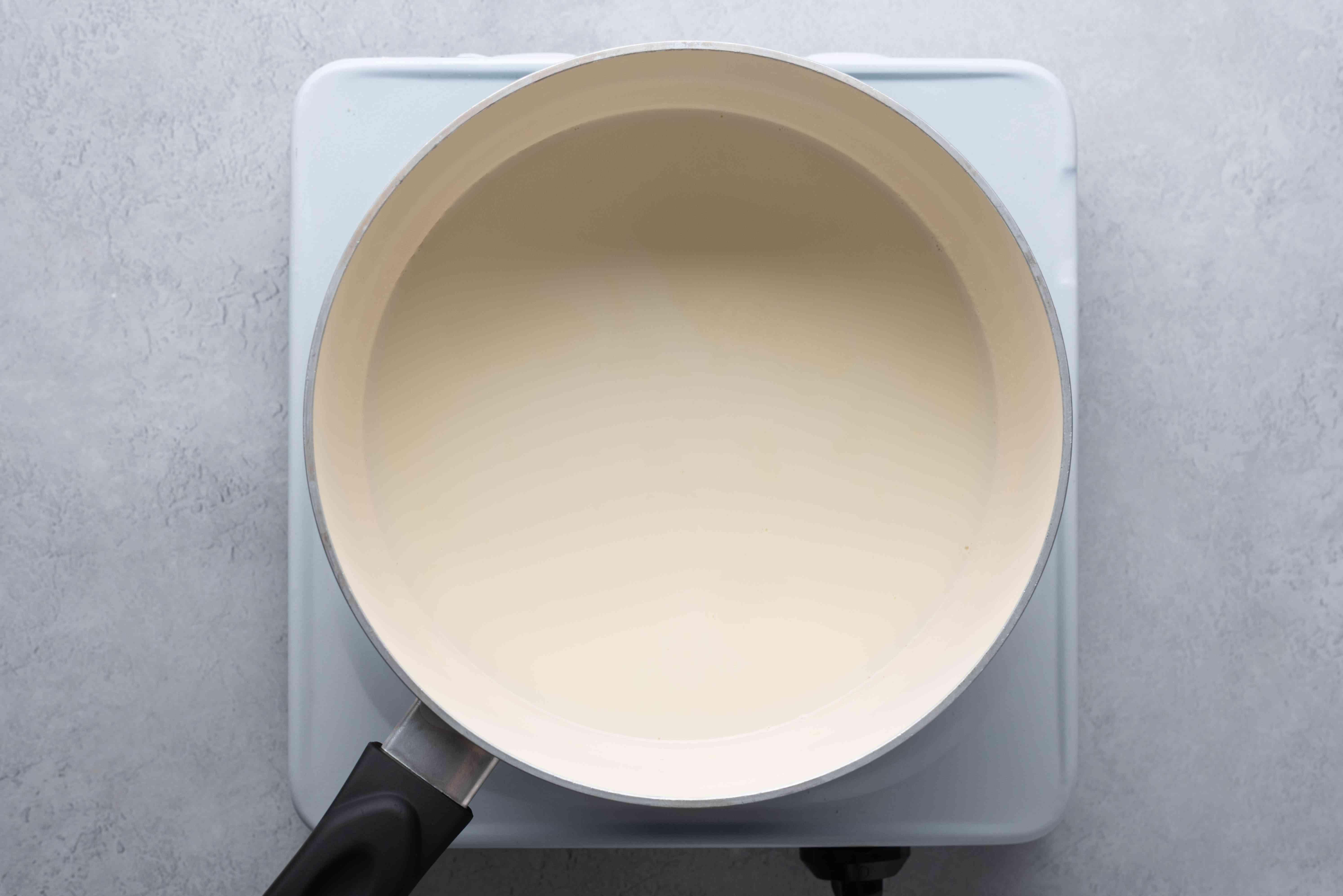 milke in saucepan
