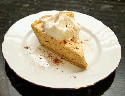 Pumpkin butter pie in cookie crust