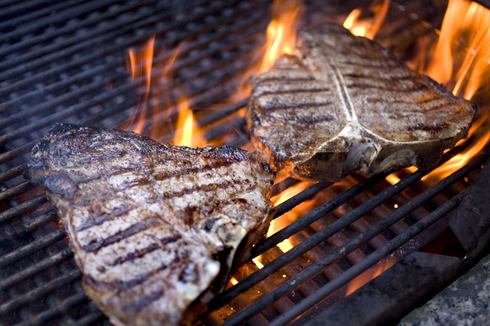 Grilling steaks at home