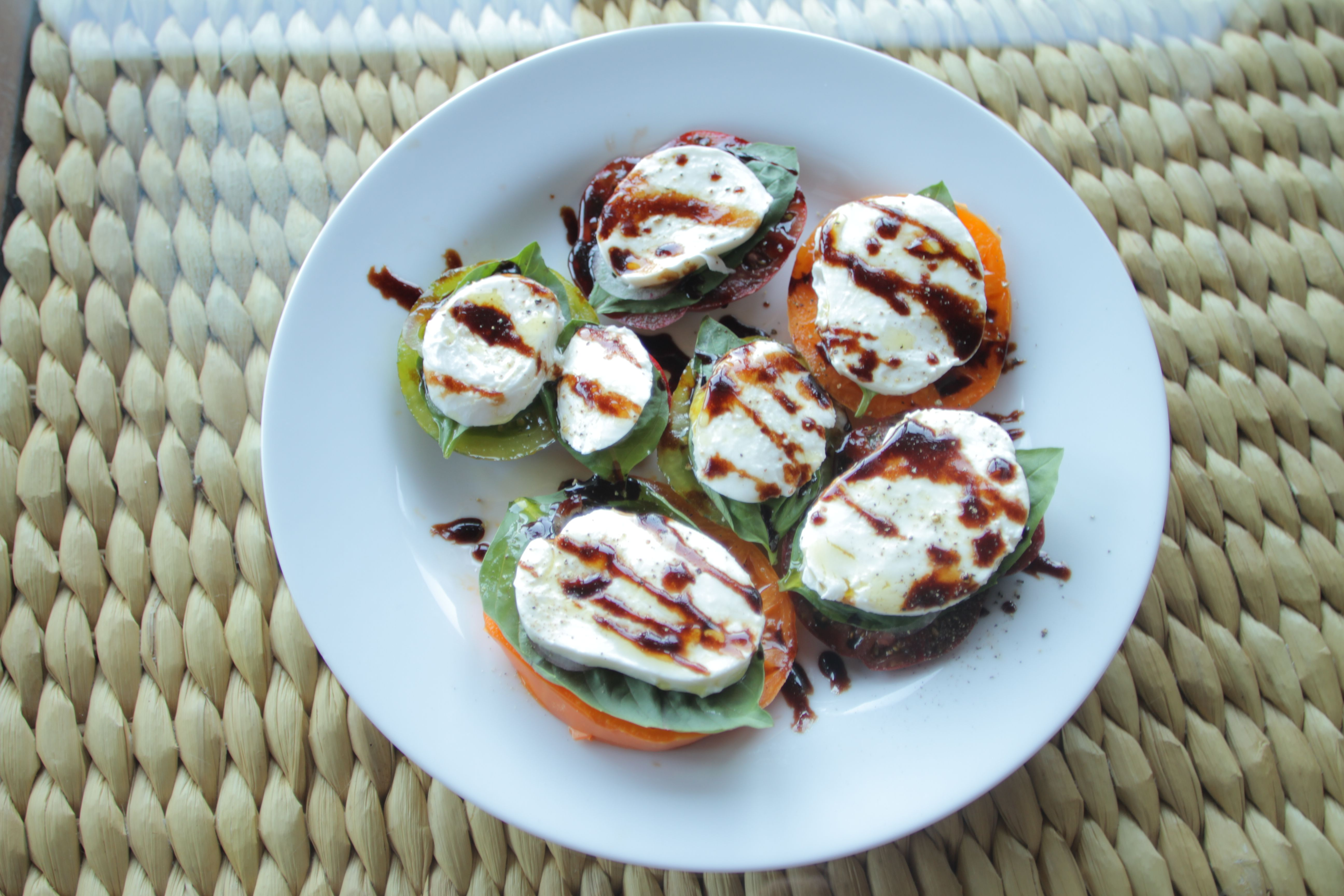 Caprese Salad with Balsamic Candy Drizzle