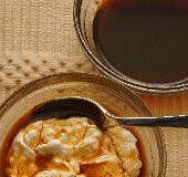 Petimezi on Yogurt with Grape Molasses Syrup