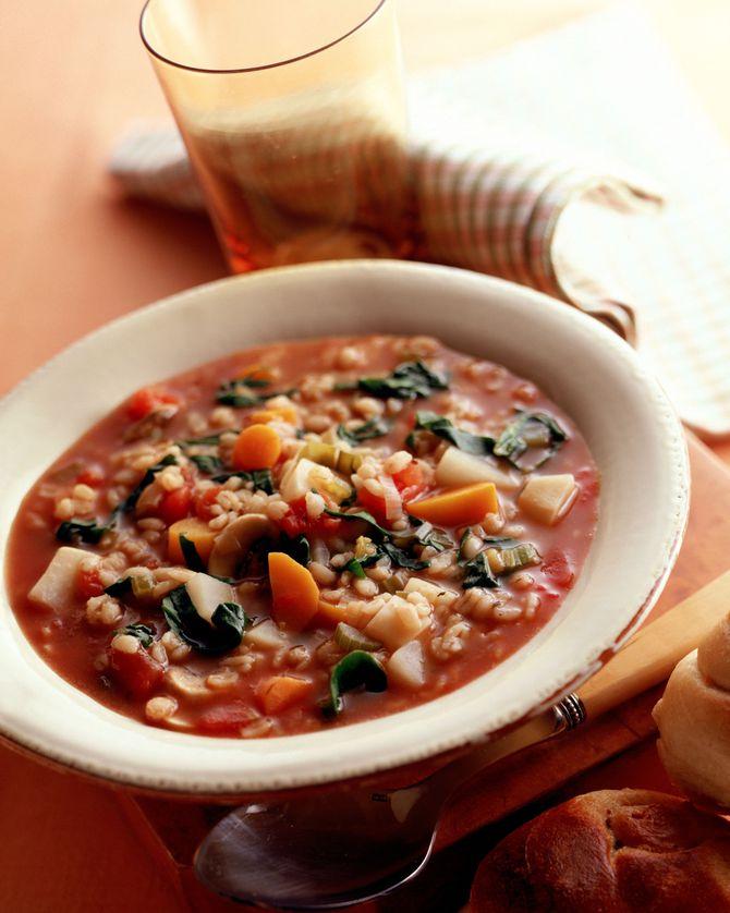 Crockpot Barley Vegetable Soup