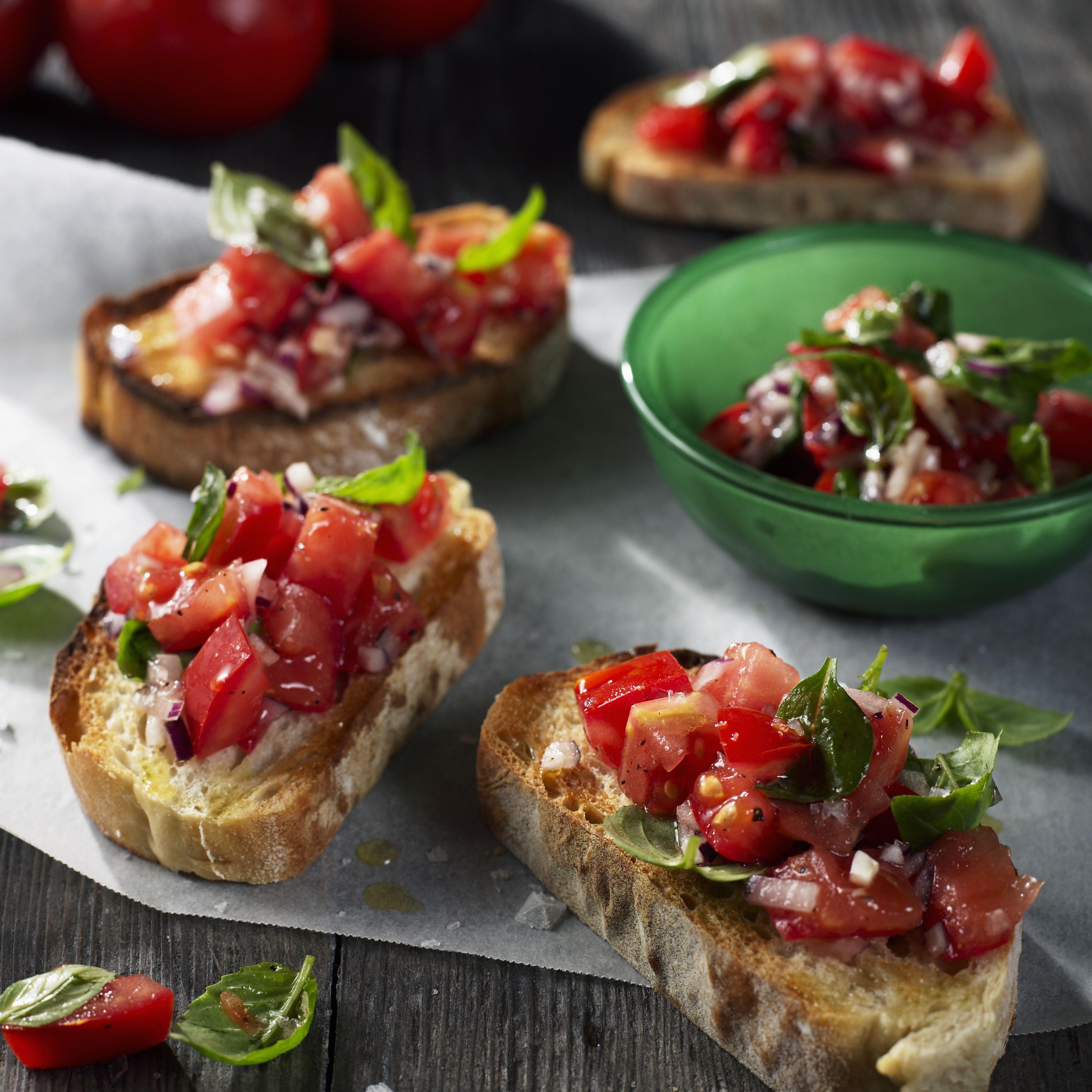 Grilled Tomato-Herb Bruschetta