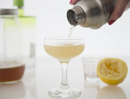 Ginger Sour Cocktail with Ginger-Infused Vodka