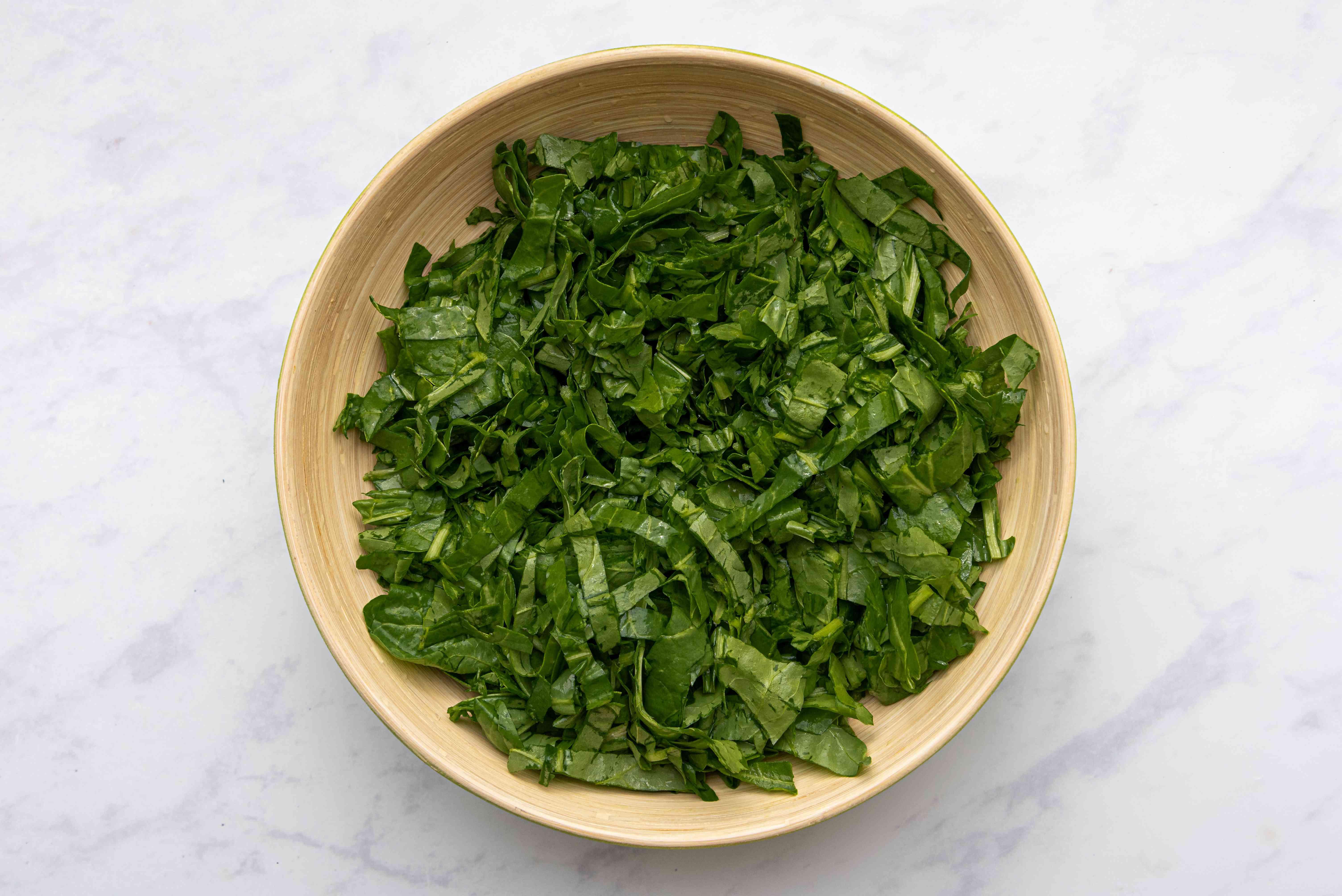 collard greens in a bowl