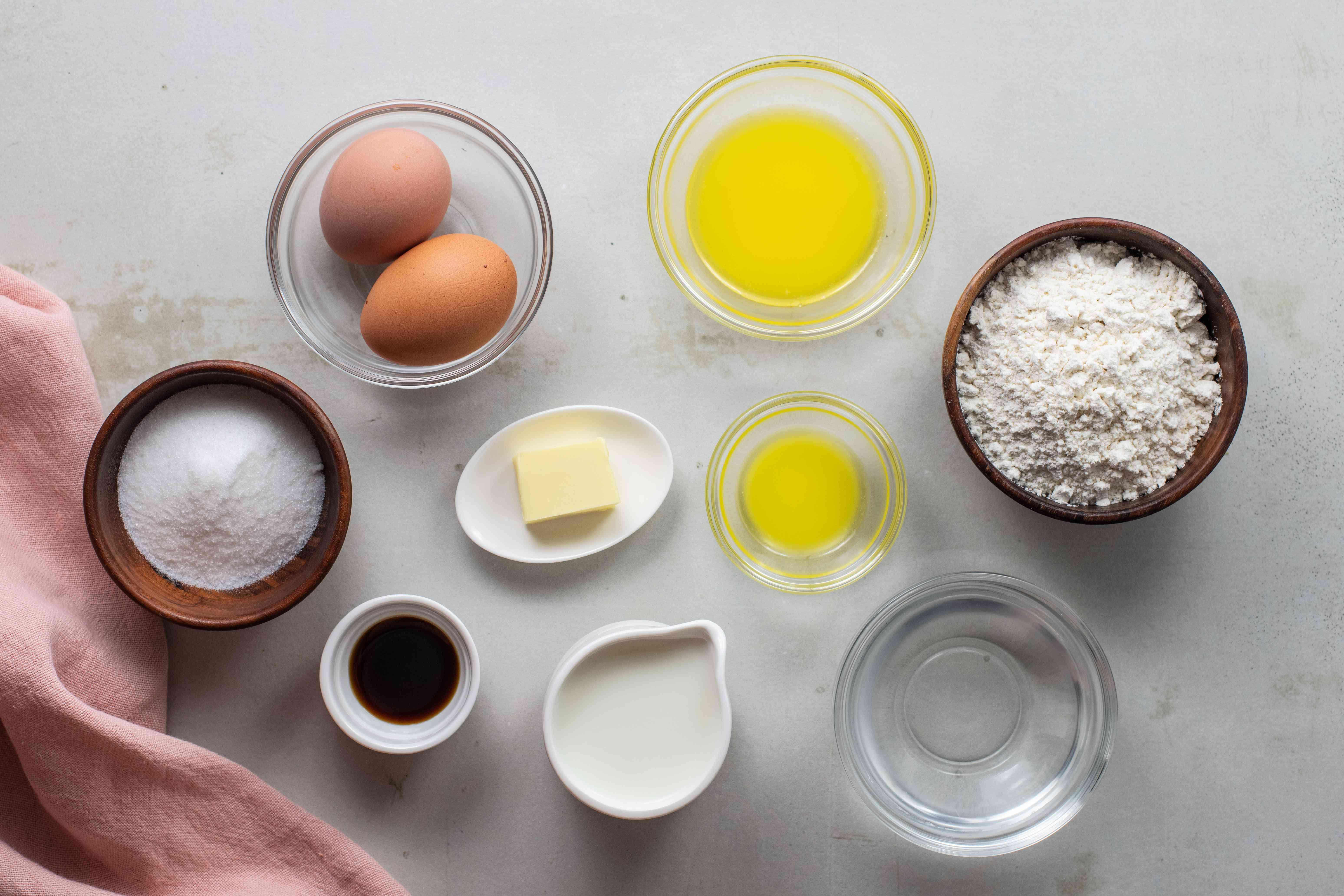 Ingredients for crepe filling