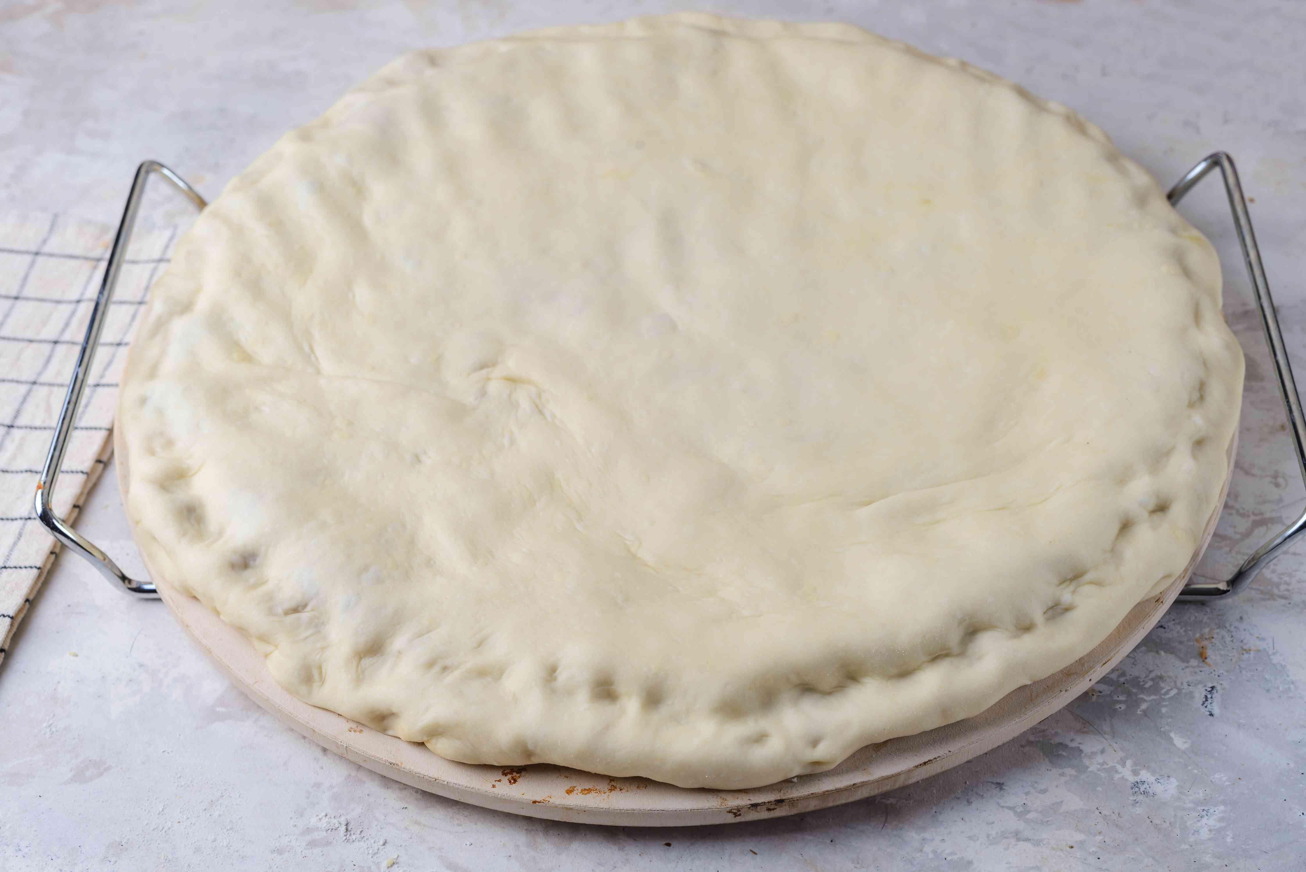 Add rolled dough