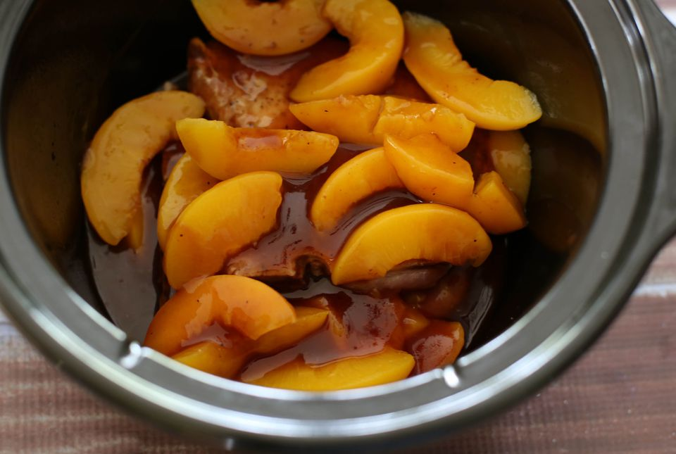 crock pot pork chops with peaches