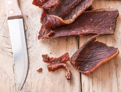 Oven roasted beef jerky