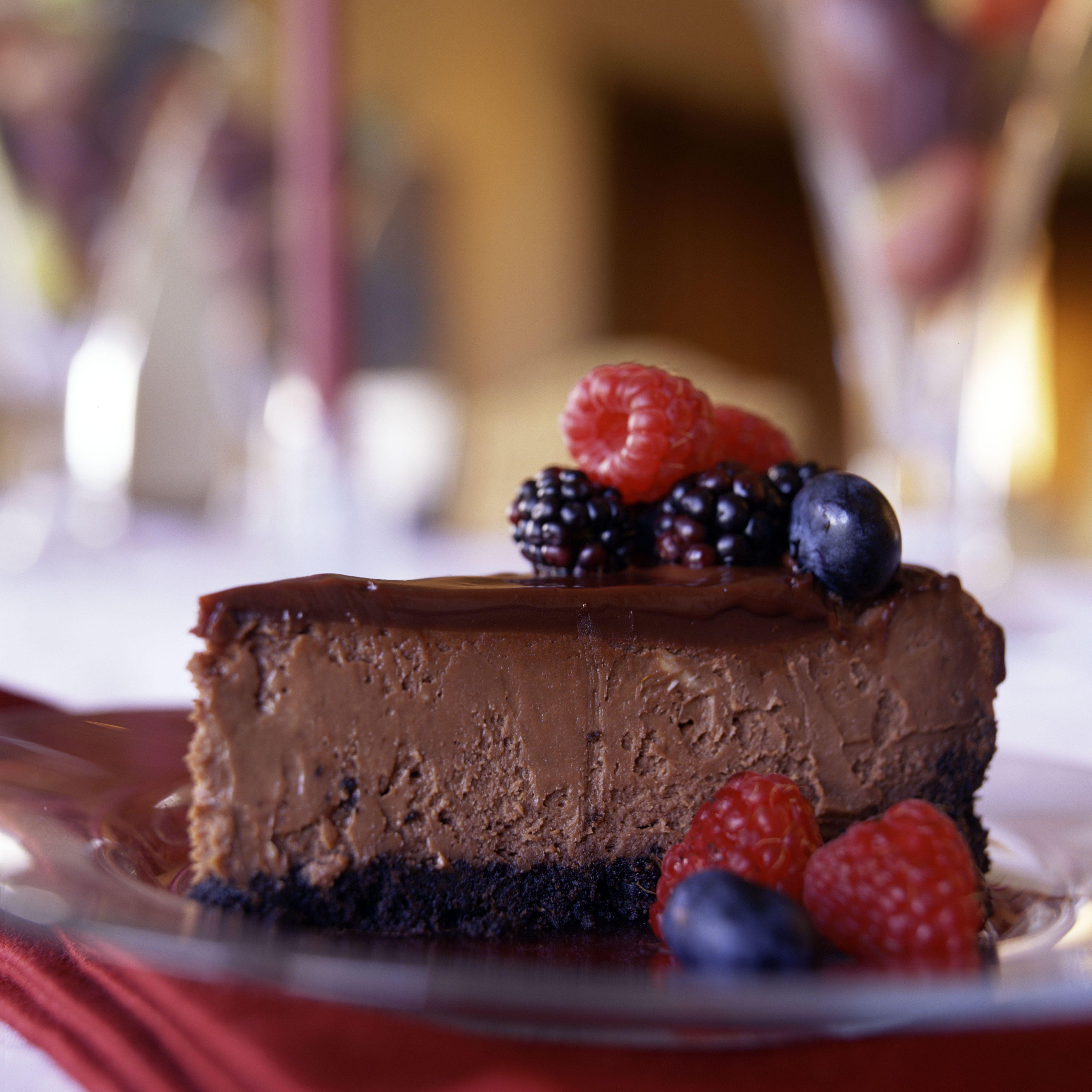 Gluten-Free Irish Cream Chocolate Cheesecake Recipe Image