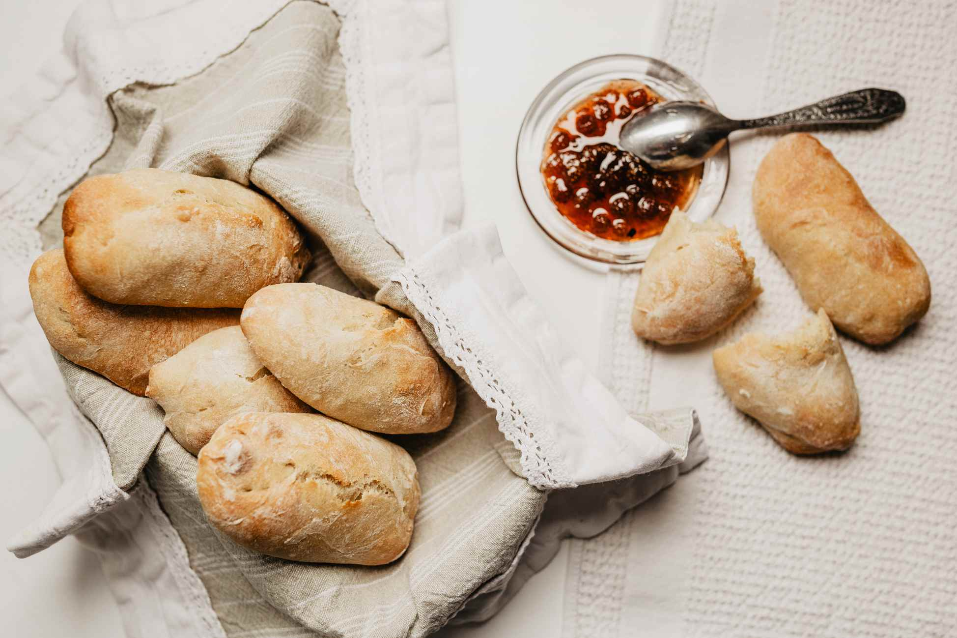 French Petits Pains Bread Rolls Recipe