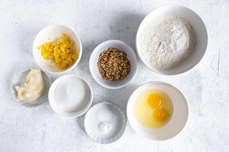 Pineapple Bread ingredients