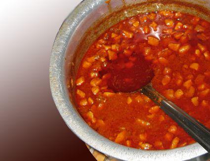 A bowl of goan sorpatel