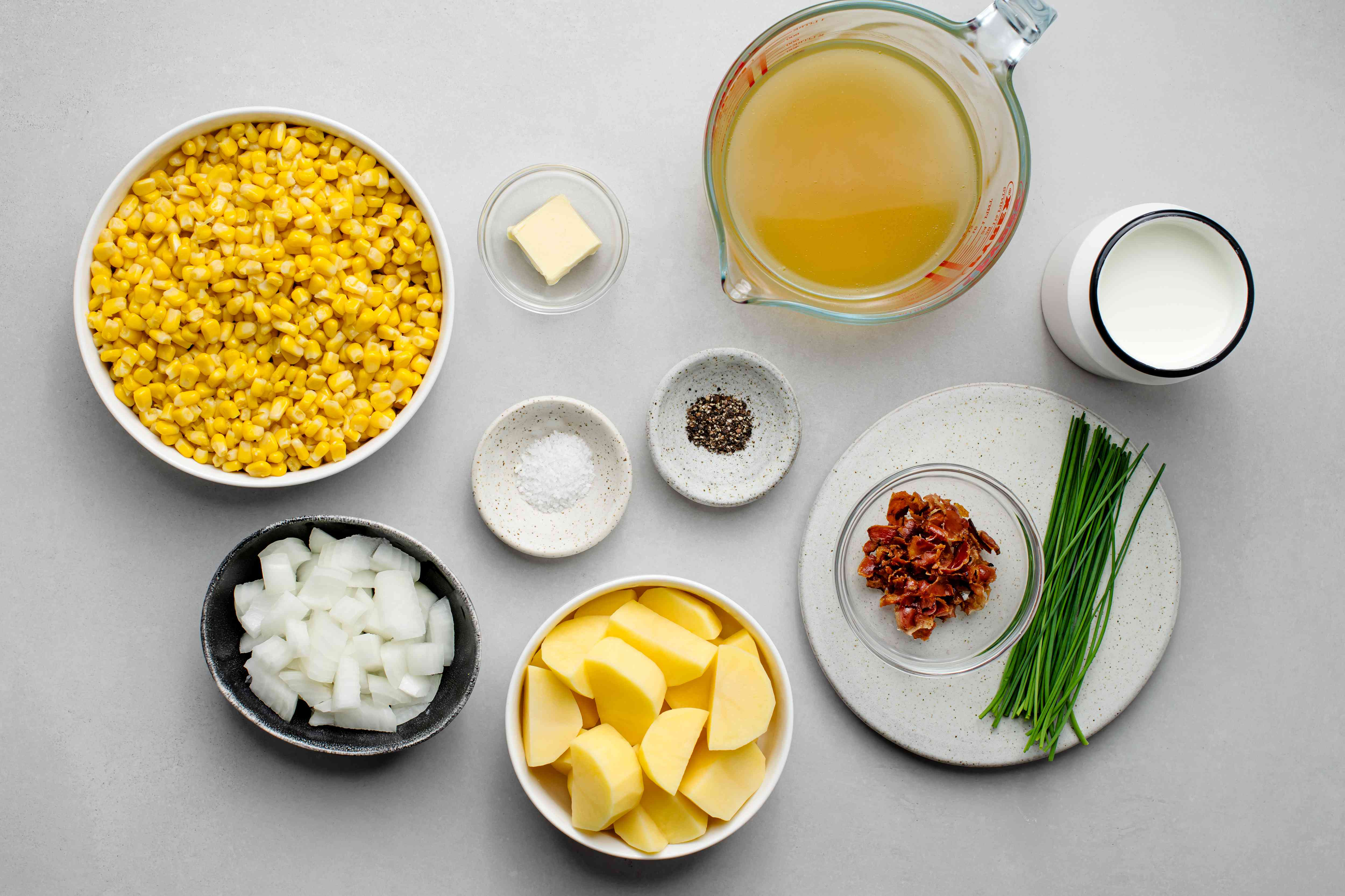 Slow Cooker Creamy Corn Chowder ingredients