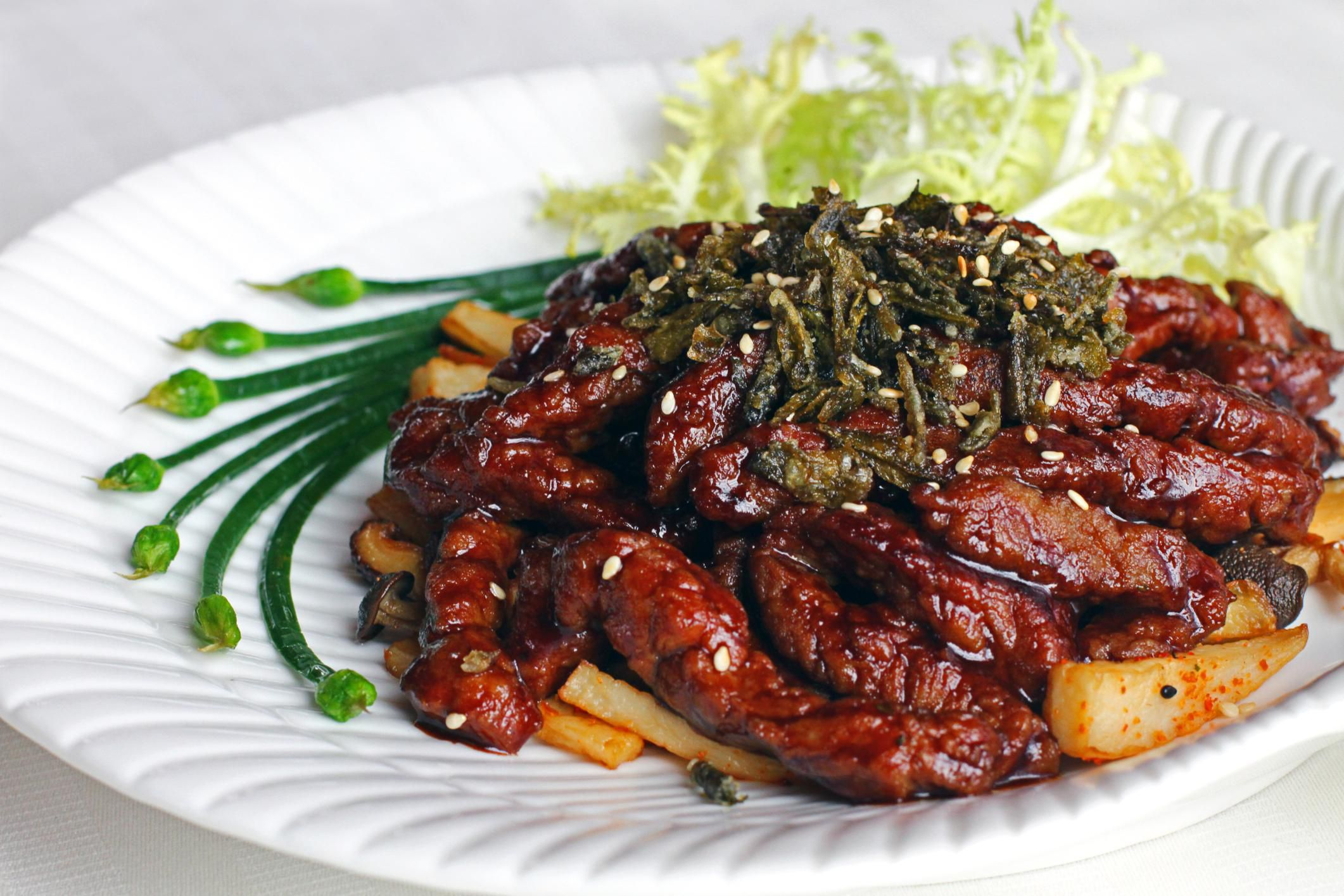 Honey Beef With Sesame Seeds