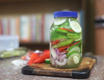 Jar of pickled Ensaladang Pilipino