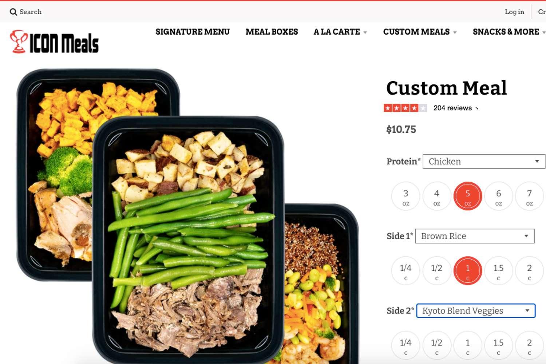 Icon Meals website