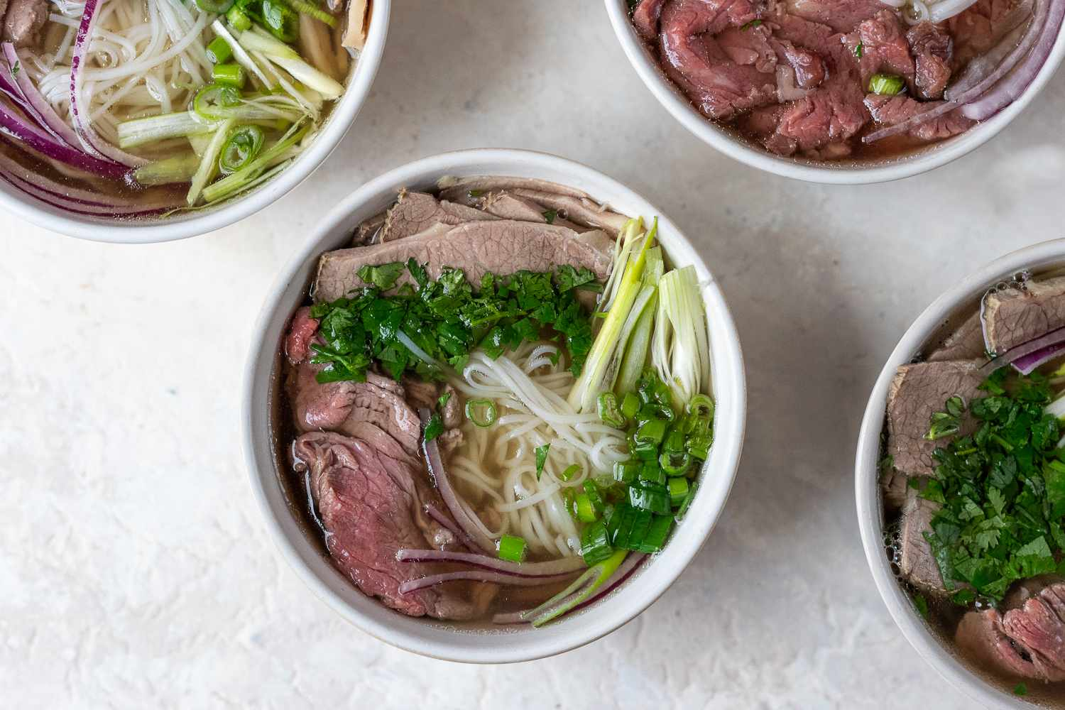 broth added to the pho