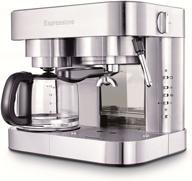 Espressione Stainless Steel Machine Espresso and Coffee Maker