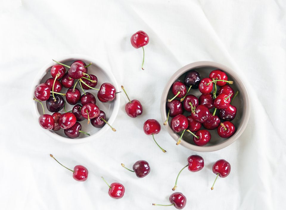 Ripe Cherries in Bowls