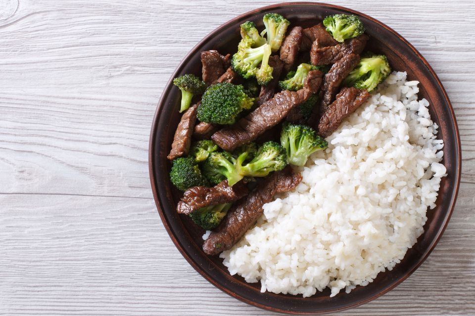 Beef with Broccoli over rice