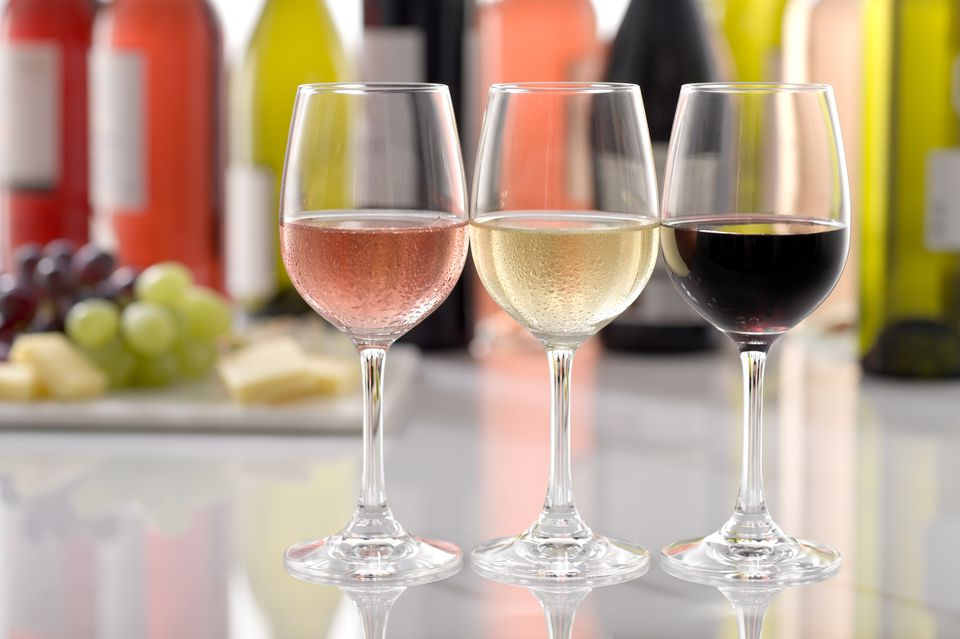 Wine Glasses Red White Rosé
