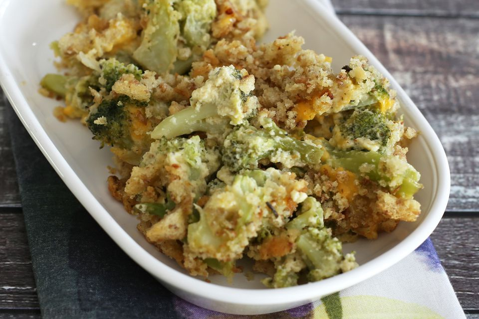 Broccoli Casserole With Stuffing Crumbs