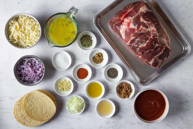 Pork Enchiladas ingredients