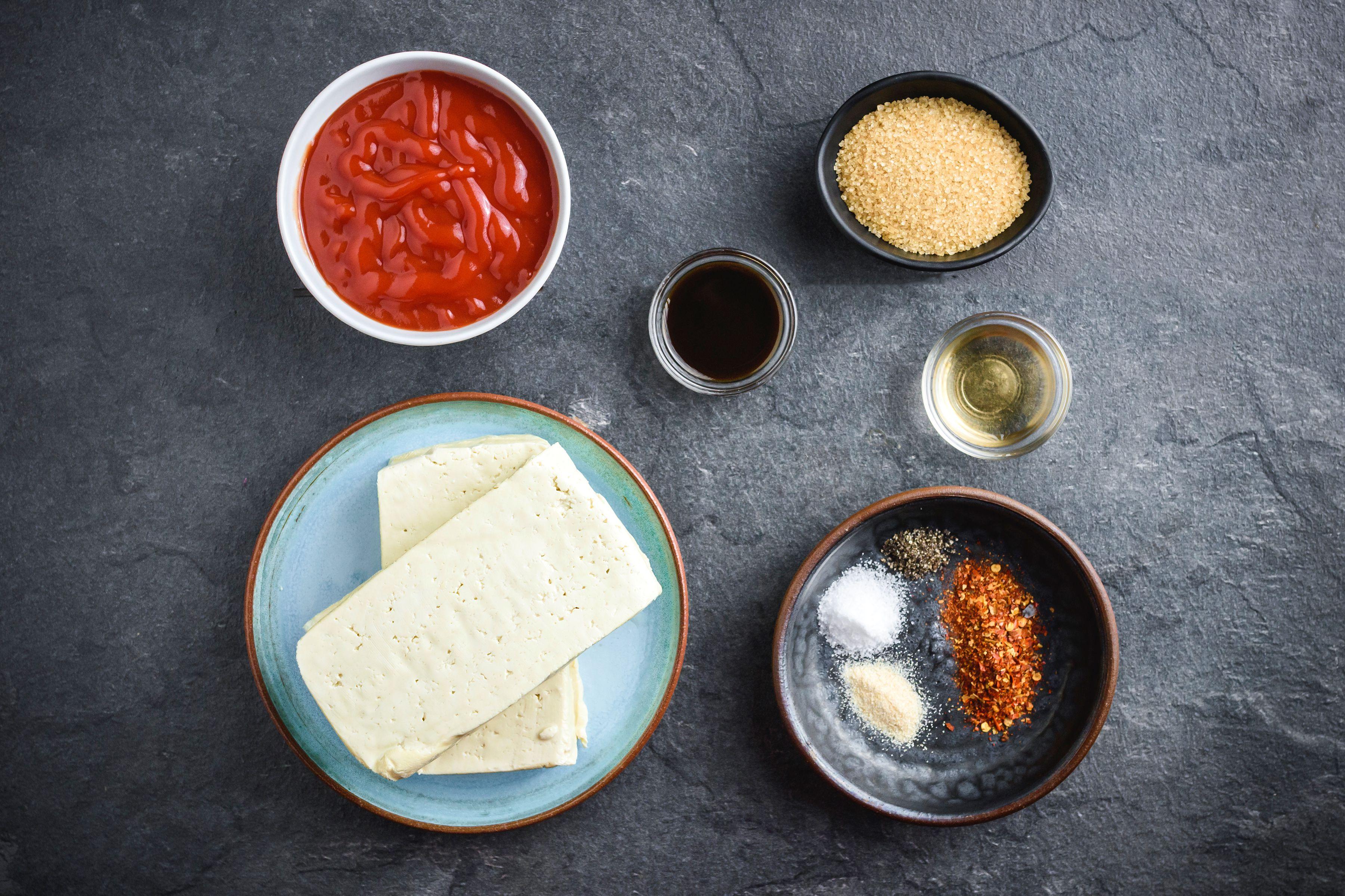 Vegan Crock Pot Barbecue Tofu Recipe ingredients