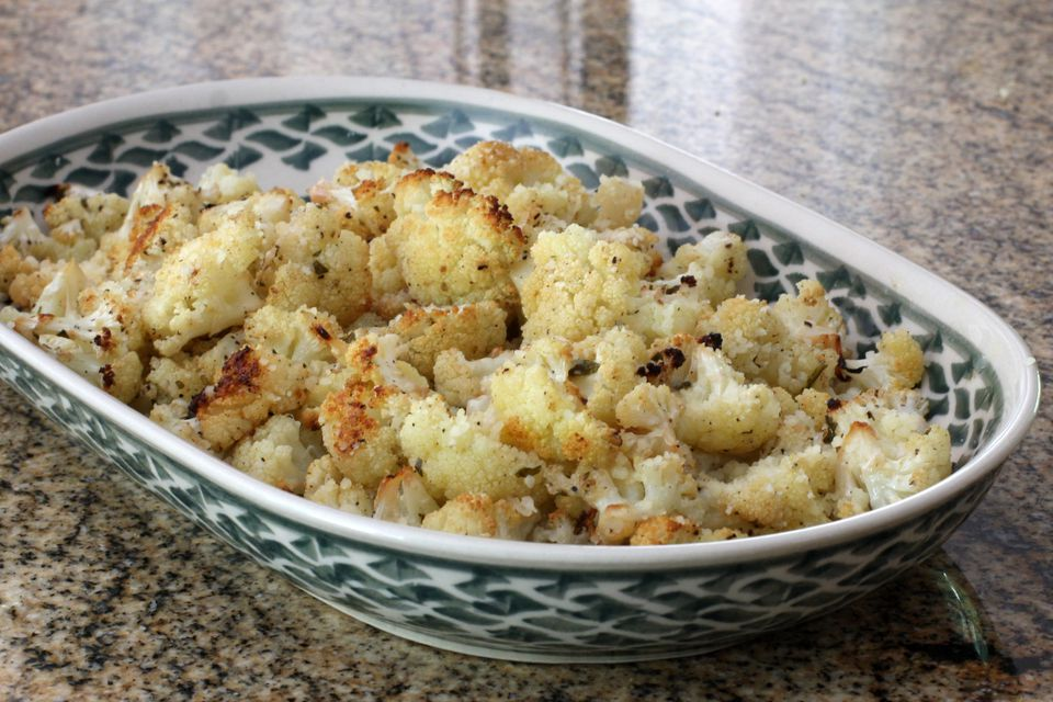 Lemon and garlic roasted cauliflower
