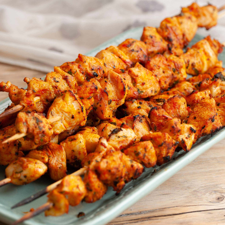 Moroccan Chicken or Turkey Kebabs (Brochettes)